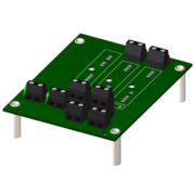 8BP02 - Standard 2-channel backpanel with standoffs for mounting.