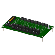 8BP08 - Standard 8-channel backpanel with standoffs for mounting.