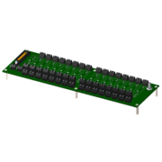 8BP16 - Standard 16-channel backpanel with standoffs for mounting.