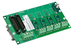 SCM7BP04-DIN - Four channel backpanel with DIN rail mounting clips.
