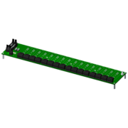 SCMPB02 - 16-channel backpanel with standoffs for mounting.