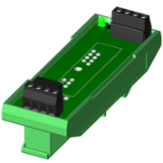 SCMPB03-2 - Single channel backpanel wi th DIN rail mounting hardware. Shipped fully assembled.