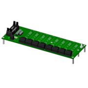 SCMPB05 - 8-channel backpanel with standoffs for mounting.
