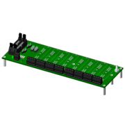 SCMPB06 - 8-channel backpanel with standoffs for mounting, multiplexed