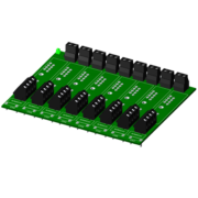 SCMPB07-1 - 8-channel backpanel without cold junction compensation circuits. Use when cost savings is desired and thermocouple input modules SCM5B37 and SCMPB47 will not be used