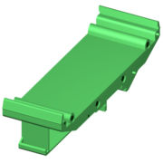 SCMXBEFE - DIN rail base element with snap foot